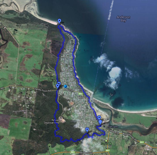 Bridport Walking Track Map